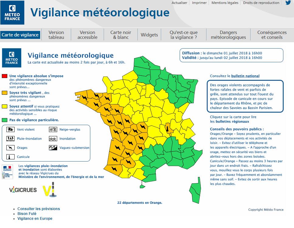 Le 1.07.2018:ORAGES SUR LE NORD OUEST DE LA FRANCE A 17H45