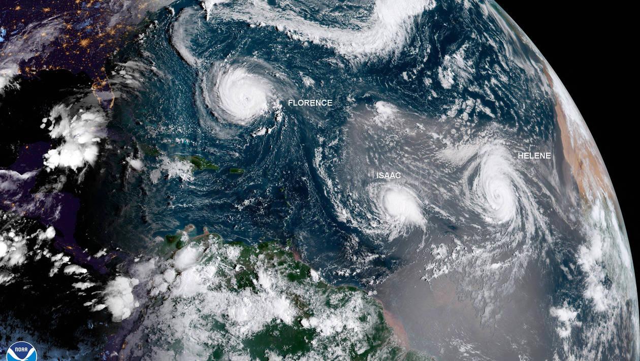 Le 12.09.2018:Ouragans Florence, Isaac, Hélène, super-typhon Mangkhut: à quoi faut-il s'attendre?