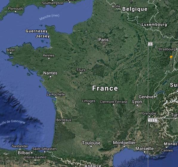 Le 21.07.2018:UN TEMPS BEAUCOUP PLUS CALME SUR LE SUD DE LA FRANCE QUE HIER