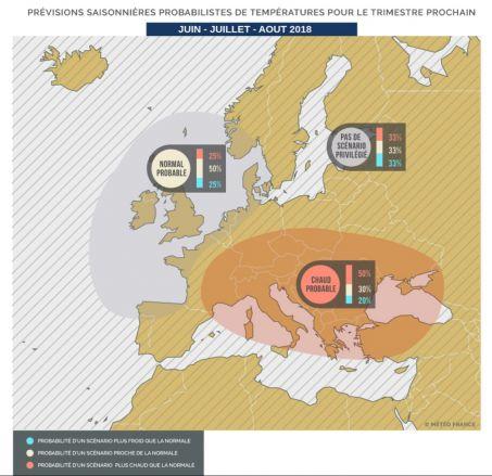 Météo-France annonce une vague de chaleur sur l'Europe pour l'été 2018