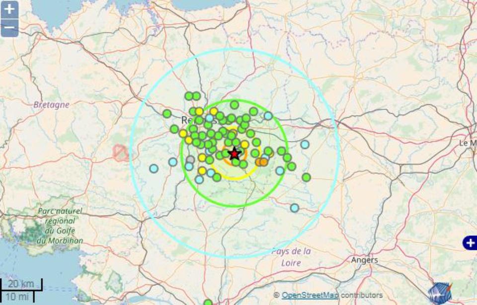 Plus 200 temoignages collectes site france seisme apres tremblement terre touche sud rennes nuit 28 29 septembre