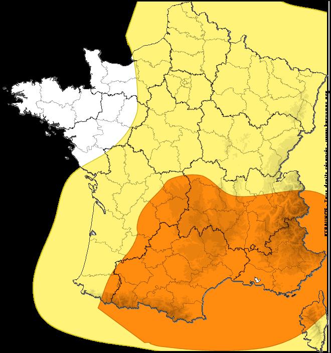 Le 16.07.2018:Prévision nationale des risques orageux BULLETIN DU LUNDI 16 JUILLET 2018