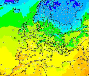 Temperatures obs europe jeudi26oct 15hutc carrousel