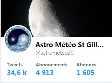 NOTRE TWITTER  Astro Météo St Gilloise  30